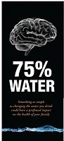 The Brain 75% Water  Trifold Brochure