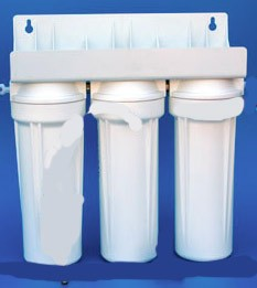 Home Pre-Filter System for Fluoride and chlorine reduction with 3rd cartridge as needed